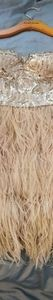 BEBE Sequin Feather Dress